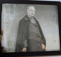 Beau Portrait Photo D'un Ecclésiastique à Identifier - Plaque De Verre - TBE - Plaques De Verre