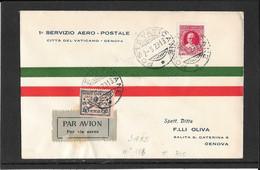 Vaticano 1929- Primo Volo FFc Vaticano-Genova  (ref 940g) - Covers & Documents