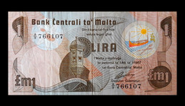 # # # Banknote Malta 1 Lira 1967 # # # - Malta
