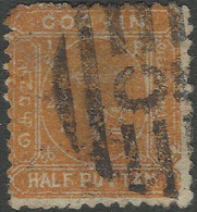 Cochin(India). 1894 Definitives. ½put Orange Used. SG 5a - Cochin