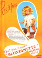 """PUB  POUPEE """" BLONDINETTE  """" De GéGé 1966 (1) - Barbie"""