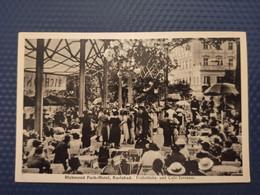 Czech Republic Karlsbad, Richmond Parkhotel - Cafe Terrasse / Old Vintage Postcard - Repubblica Ceca