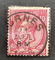 Leopold II OBP 46 - 10c Gestempeld FURNES - 1884-1891 Leopoldo II