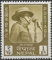 NEPAL 1964 King Mahendra's 45th Birthday - 1p - King Mahendra At Microphone MH - Nepal