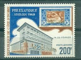 CÔTE-D'IVOIRE - POSTE AERIENNE N° 44** MNH. - Palais Des Chambres D'Agriculture Et D'Industrie  Dentelé 13. - Costa De Marfil (1960-...)