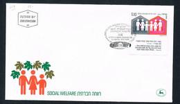 1978 - Israel - FDC  - Social Welfare - With Tab - FDC