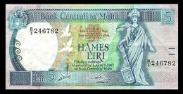 # # # Banknote Malta 5 Liri 1967 # # # - Malta