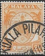 NEGRI SEMBILAN 1949 Arms Of Negri Sembilan - 5c - Brown FU - Malaysia (1964-...)