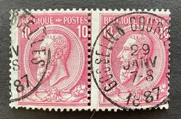 Leopold II OBP 46 - 10c Gestempeld GOSSELIES COURCELLES - 1884-1891 Leopoldo II