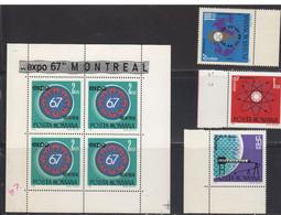 Roumanie 1967 Yvert 2341 / 2344 ** Neufs Sans Charniere 2334: Bloc De 4. Exposition Internationale De Montreal Canada - Unused Stamps