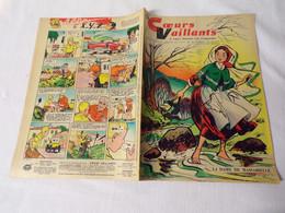 Hebdomadaire Cœurs Vaillants N° 12 Du 23/03/1958- La 2CV Vespa 400 - Vaillant