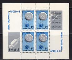 Roumanie 1968 BF Yvert 70 ** Neuf Sans Charniere. T. Aerien En Bloc De 4. Capsule. Tableau De Bord - Unused Stamps