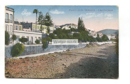 Las Palmas - Paseo Juan Quesada - Old Canary Islands Postcard - Gran Canaria