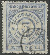 Cochin(India). 1902-3 Definitives. 3p Used SG 16 - Cochin