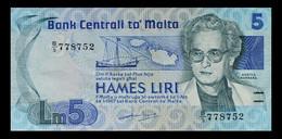 # # # Banknote Malta 5 Liri 1986 # # # - Malta