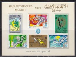 Tunisie 1972 BF Yvert 7 ** Neuf Sans Charniere. JO De Munich - Tunisia (1956-...)