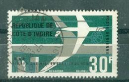 """CÔTE-D'IVOIRE - POSTE AERIENNE N° 36 Oblitéré. - Mise En Service DesDC-8F De La Compagnie """"Air Afrique. - Costa De Marfil (1960-...)"""