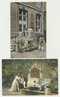 Lot 2 Cartes Fantaisie - PARIS Historique - Le Marais Au 17ème Siècle, Hôtel Chalons Luxembourg - Rue Geoffroy Costumes - Teatro