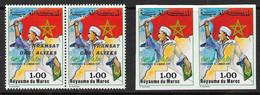 TIMBRE MAROC N° 976 A** TRANSAT DES ALIZES Et N° 800 MARCHE VERTE Non Dentelé - SUPERBE - RARE - MNH - COTE : + De 400 € - Marruecos (1956-...)