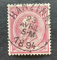 Leopold II OBP 46 - 10c Gestempeld HANZINNE - 1884-1891 Leopoldo II
