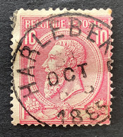 Leopold II OBP 46 - 10c Gestempeld HARLEBEKE - 1884-1891 Leopoldo II