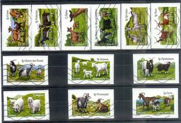 Superbe Série Adhésive Les Chèvres De Nos Régions 2015 Oblitérée TTB - Adhesive Stamps