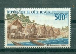 CÔTE-D'IVOIRE - POSTE AERIENNE N° 40 Oblitéré. - Tiegla, Village Lacustre. Dentelé 13. - Costa De Marfil (1960-...)