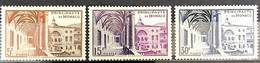 Monaco 1952, Poste, N° 383 à 385, Timbres Splendides, Neufs, Luxe, Sans Traces De Charnière - Ungebraucht
