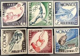 Monaco 1953, Poste, N° 386 à 391, Timbres Splendides, Neufs, Sans Traces De Charnière, Voir Description - Ungebraucht