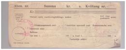Radioabonent Check With Postal Cachet,1933.Estonia,Estland - Estonie