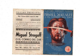 Michel Strogoff-   Secun La Celebre Obra De Julio Verne-Abril 1940-Espagne- Affiche, Programme, Tract ? - Afiches