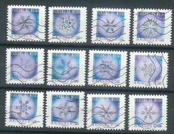 Superbe Série Adhésive Flocons De Neige 2018 Oblitérée TTB - Adhesive Stamps