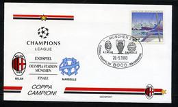 MÜNCHEN 1993, FOOTBALL, CHAMPIONS LEAGUE, FINALE A.C. MILAN / O. MARSEILLE, 1 Enveloppe Premier Jour FDC - Famous Clubs