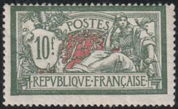 Année 1925-26 - N° 207 - Type Merson - Typographie - 10 F. Vert Et Rouge - Neuf Avec Légère Trace - Cote Neuf : 350 € - 1900-27 Merson