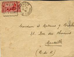 """1939- Enveloppe De PAPEETE  Affr. 90 C Oblit. DAGUIN """" VOIR  / TAHITI / ET Y VIVRE """" - Covers & Documents"""