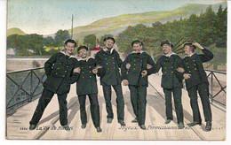 "LA VIE DU MARIN-LEVEN BIJ DE ZEEMACHT ""JOYEUX PERMISSIONNAIRES-VERELOFREGELING VAN DE MATROZEN"" AQUA PHOTO 2686 - Regimenten"