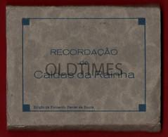 PORTUGAL - CALDAS DA RAINHA - RECORDAÇÃO DAS CALDAS - 18 FOTOGRAFIAS DA CIDADE - ANOS 40 - Dépliants Touristiques