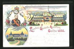 Lithographie Gotha, Landes-Gewerbe-Ausstellung 1898, Eingangsbereich - Exhibitions