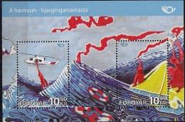 2012  Färöer   Mi. Bl 30 **MNH  NORDEN - Leben Am Meer - Faroe Islands