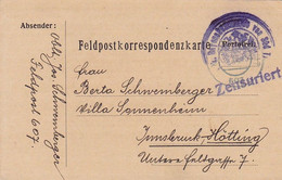 Feldpostkarte K.u.k. Rayonskommando Von Süd Tirol - 1915  (56136) - Cartas