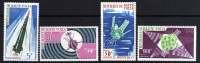 Haute Volta P.A. N° 36 / 39  X Satellites Français. Les 4 Valeurs Trace De  Charnière Sinon TB - Upper Volta (1958-1984)