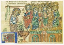 Carte Maximum Painting Peinture Vatican Vaticano 1988 Codice Miniato - Maximum Cards