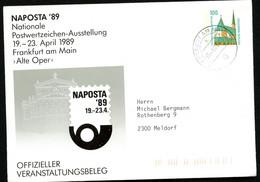 NAPOSTA Bund PU290 D2/012 Gelaufen Frankfurt 1989 NGK 5,00 € - Philatelic Exhibitions
