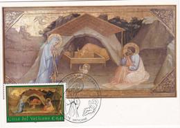 Carte Maximum Painting Peinture Vatican Vaticano 2002 Lippo D'Andrea - Maximum Cards