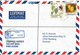 Malaysia Negeri Sembilan Registered Air Mail Cover Sent To Germany Rembau 13-9-1996 - Malaysia (1964-...)