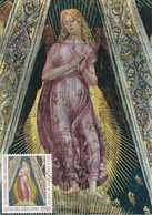 Carte Maximum Painting Peinture Vatican Vaticano 1995 Loreto L. Signorelli - Maximum Cards