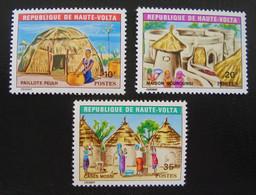 HABITAT 1971 - NEUFS ** - YT 259/61 - MI 358/60 - Upper Volta (1958-1984)