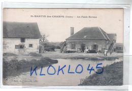 89 St Saint MARTIN Des CHAMPS ( Yonne ) Les Fossés Barreau - Vue De La Ferme - Animé - CPA L. Carroué Tabac Dos Vert - Non Classificati