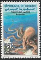 DJIBOUTI 1998 - Yvert N° 740 (Michel N° 665) Faune Sous-marine (le Poulpe) - Neuf** - 1er Choix (Lot 30) - Dschibuti (1977-...)