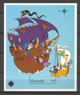 Disney Grenada 1995 Pirates MS #1 MNH - Disney